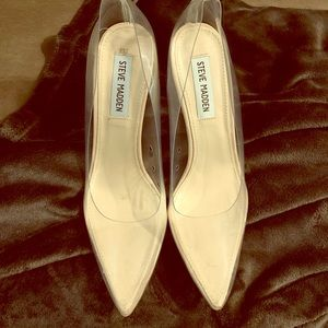 Steve Madden Shoes - Clear pumps for sale. Worn only once.
